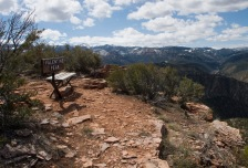 The bench situated at the sop of Valentine Peak offers a commanding view of the town of Parowan below and the surrounding valley. It also features an ammo can containing a log book for you to sign and record the fact that you reached the summit.