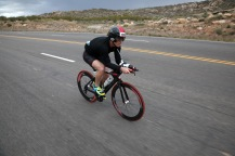 Ironman 70.3 St. George participants ride their bikes through Washington Saturday, May 7, 2016.